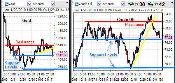 Crude Oil and Gold Futures Trading