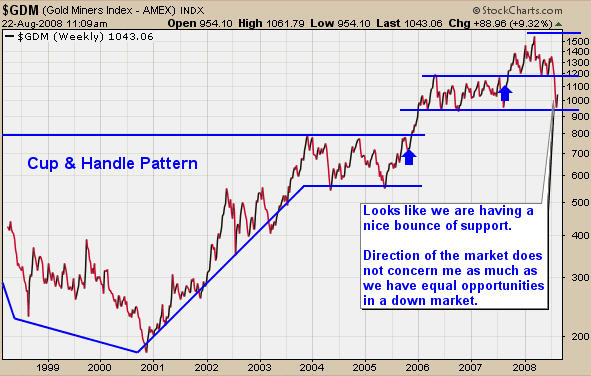 Gold Stocks At Support