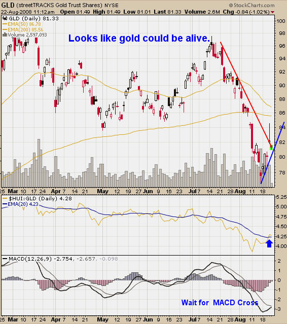 Gold Newsletter Gold GLD Chart