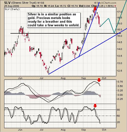 Silver SLV ETF Trading Newsletter