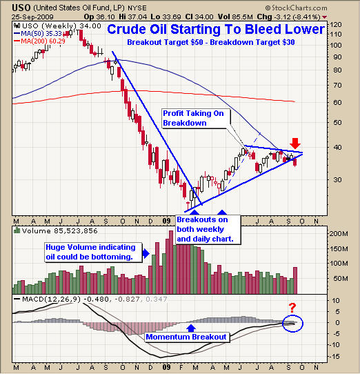 Crude Oil USO Trading Newsletter